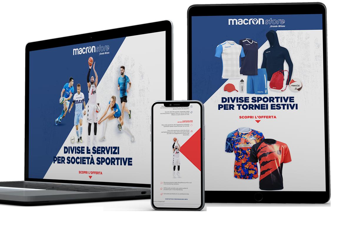 Macron Store Grande Milano Landing page